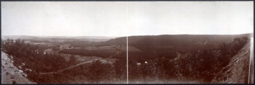 """c1896 Quakake Valley from Point Lookout 24"""" Vintage Panorama photo"""