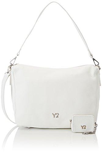YNOT Sl11/Pe18, Borsa a Tracolla Donna, 11x24x32 cm (W x H x L) Bianco