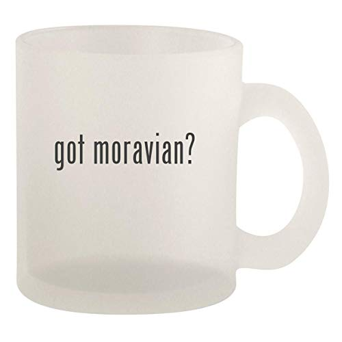 got moravian? - Glass 10oz Frosted Coffee Mug (Star Jewelry Moravian)