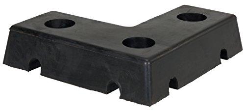 Vestil L-1818-4 L-Shaped Specialty Molded Dock Bumper, Rubber, 18