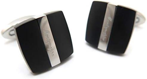 クオドロカフス(IPブラック&スチール) (カフスボタン/カフリンクス)