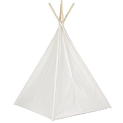 Funkatron Indoor Indian Playhouse Toy Teepee Play Tent for Kids Toddlers Canvas with Carry Case Black Stripe