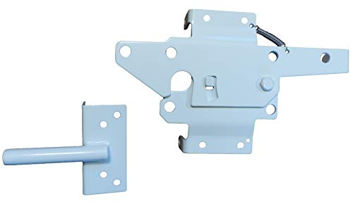 Self Closing Vinyl Fence Gate Double Gate Hardware Kit White (for Vinyl, PVC etc Fencing) - Double Fence Gate Kit has 4 Hinges, 1 Latch, and 1 Drop Rod by Jake Sales (Image #2)