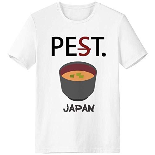 Traditional Japanese Tasty Miso Soup Pet But Not Pest White T-Shirt Short Sleeve Crew Neck Sport
