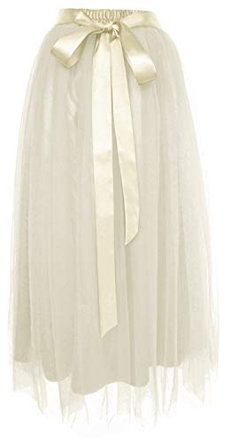 Dancina Girls Ankle Length Tutu Maxi A-line Long Tulle Skirt 2-5 Years Ivory
