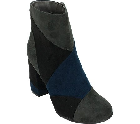 7 Dials Women's Tanyette Patchwork Boot,Charcoal Multi Suedette/PU,US 7.5 M