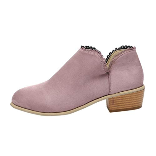 Fashion Women Classic Ankle Boots Round Toe Classic Shoes Limsea -