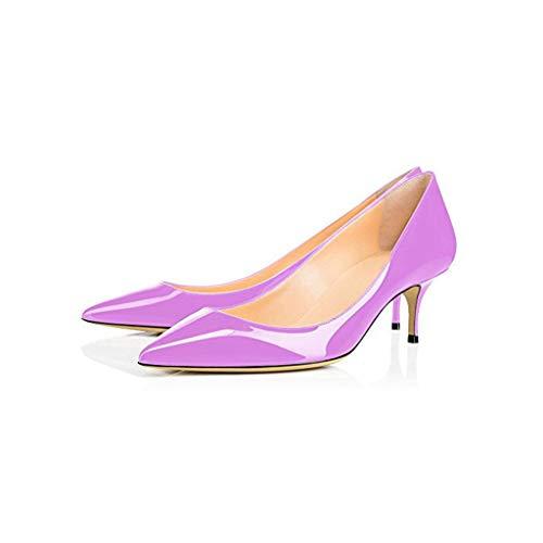 Femmes Élégant Chaussures Chaussures Chaussures Profonde Mercure Peu Purple Avec Bouche Journée Bureau Longue Bas Confortable À Affaires Et Mode Chat Talons Pointé Plateforme rWq7f8xpwr