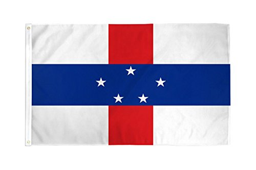 3x5 Netherlands Antilles Flag Dutch Country Banner Caribbean