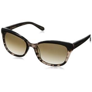 Kate Spade Women's Amaras Cat-Eye Sunglasses,Black Blush, Tortoise,55 mm