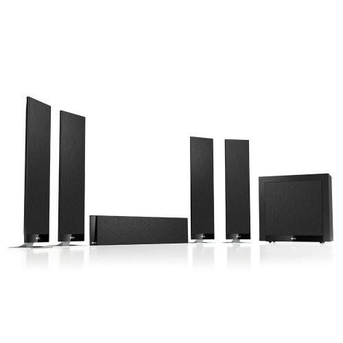 KEF T Series 5.1-Channel Home Theater Speaker System with Subwoofer Black T305