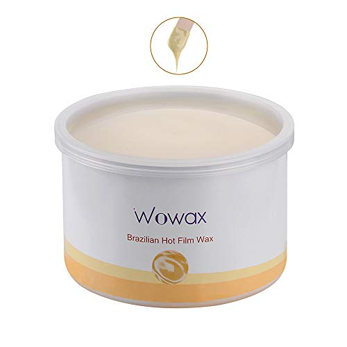 Wowax Brazilian Wax Hard Wax Hair Removal Wax Stripless for Women Whole Body Sensitive Skin 14 oz