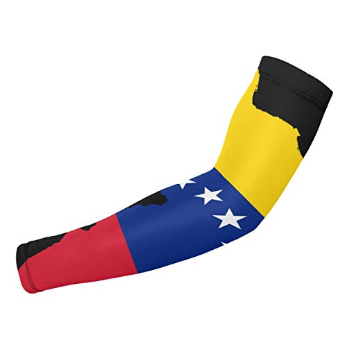 XCSADE Map of South America Showing Venezuela Sports Compression Arm Sleeves 1 Pair - 2 Sleeves Youth & Adult Sizes Football Baseball Basketball Cycling Tennis