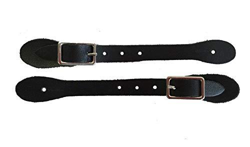 Supreme Western Toddler Spur Straps Genuine Leather Cowboy Boots Kids Children Made in USA Black