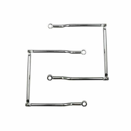 HANSWD Saddlebag Support Bars Brackets For HONDA SUZUKI YAMAHA KAWASAKI TRIUMPH (Chrome) ()