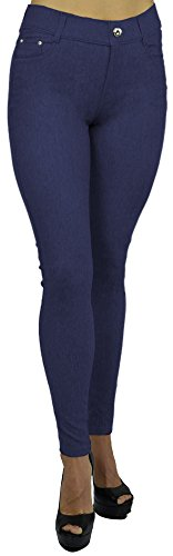 Belle Donne - Women's Jeggings Pull-on Look Alik Denim Jeans - Stretchy Tight - Dark ()