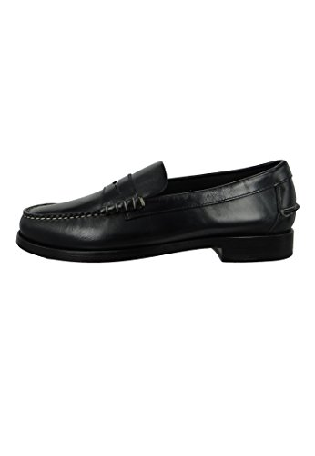 Sebago Schuhe Bootsschuhe Slipper Beef Roll Legacy Penny B766087 Black Leather Schwarz Black
