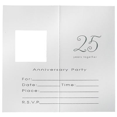 - 25th Wedding Anniversary 'Silver Wishes' Invitations w/ Envelopes (8ct)