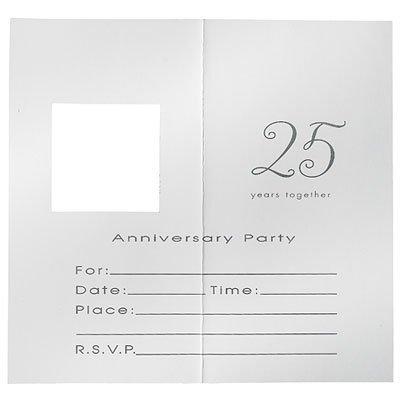 25th Wedding Anniversary 'Silver Wishes' Invitations w/ Envelopes (8ct) ()