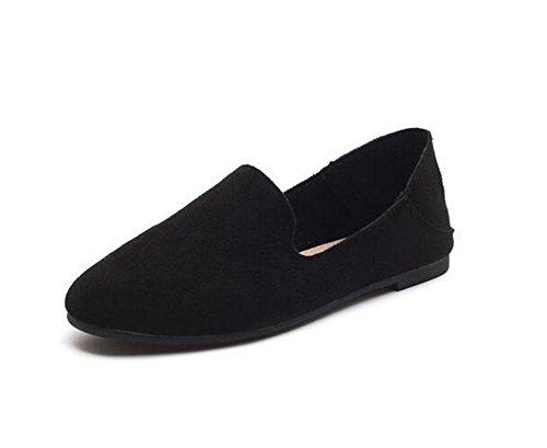 US7 5 redondos 5 KUKI 2 EU38 gamuza zapatos de perezosos guisantes de suaves UK5 planos CN38 Zapatos fqwCxZP