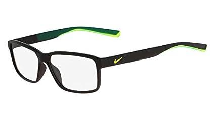 d08fc5cf056 Image Unavailable. Image not available for. Color  Eyeglasses NIKE 7092 001 MATTE  BLACK VOLT