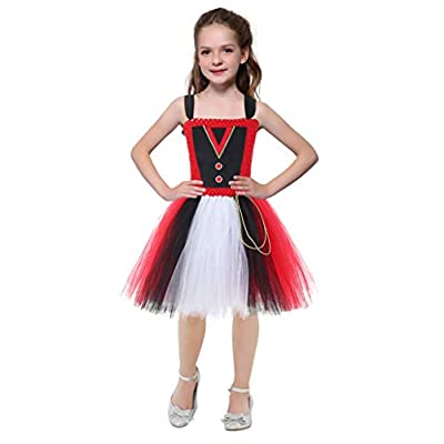 Mint Lion Tamer Costume for Kids Girls Halloween Circus Ringmaster Performers Dress Outfits: Clothing