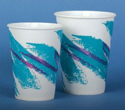 Cup, Paper, 5 Oz, Cold, Jazz Print, Waxed