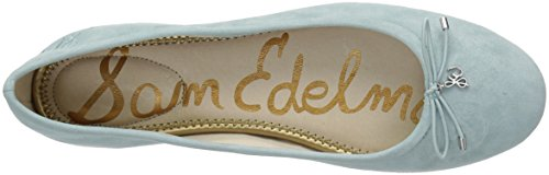 Edelman Felicia Suede Women's Amalfi Ballet Sam Blue Flat 6qSdOfdac
