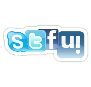 (OMG, STFU! Distracted Driving Kills!! - Sticker Graphic Bumper Window Sicker Decal - State Love Sticker)
