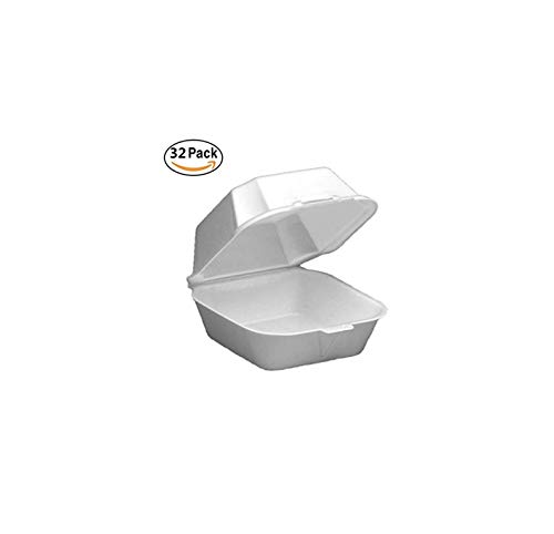 32 Restaurant to Go Box Food Take Out Boxes Sytophone. Chinese Take Out Boxes. Hinged Lid. Party BBQ Picnic Small Foam Plates Trays. Disposable Take Out Containers Food Burger Fries -