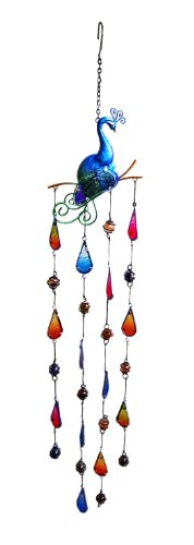 Continental Art Center CAC12466 Peacock Wind Chime, 6.89 by 0.39 by 33.07-Inch