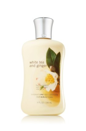 Bath & Body Works White Tea And Ginger Body Lotion Pleasures Collection 8 - Green Body Works Tea