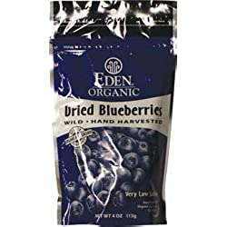 ORGANIC DRIED WILD BLUEBERRIES 4 OZ