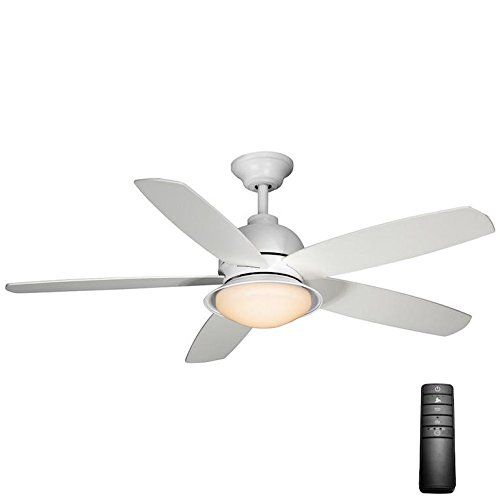 "Home Decorators Collection 56012 Ackerly 52"" LED Matte White Ceiling Fan Light Kit"