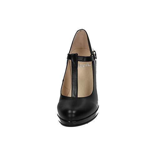 Tacón De In S Mujer Zapatos 991 Negro Spain Made WYAqzCUA