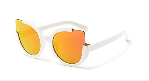 Brillen Sonnenbrille Rojo KXLEB Katzenaugen Damen Marke Sommer Blanco Blanco Gläser Für Designer Frauen Sonnenbrille Rojo Schatten XZPnqwBZ