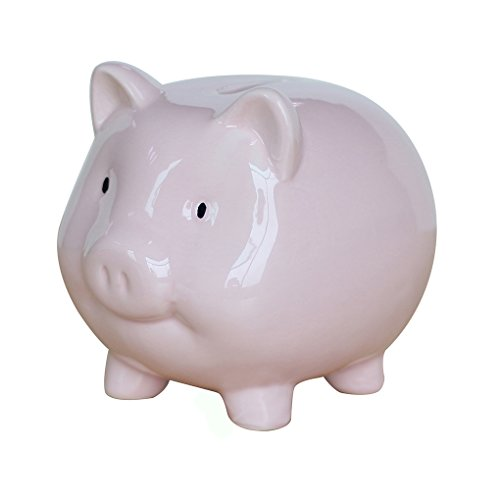 Lovollect Kids Piggy Bank, Cute Pig for Coin Savings, Ceramic Material, Color Box for (Large Ceramic Piggy Bank)