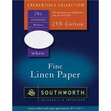 Southworth Company Products - Linen Paper, 24 lb., 8-1/2