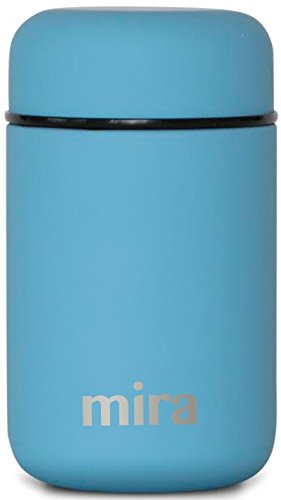 MIRA Lunch, Food Jar, Vacuum Insulated Stainless Steel Lunch Thermos, 13.5 Oz, Sky