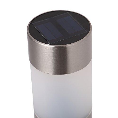 Voona Solar Bollard Lights Outdoor 6 Pack Stainless Steel