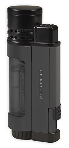 Vertigo Poseidon Triple Jet Flame Lighter - Matte Gunmetal