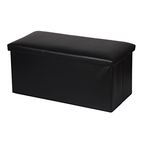 Home Basics FS49066 Bench Storage Ottoman, Black Review