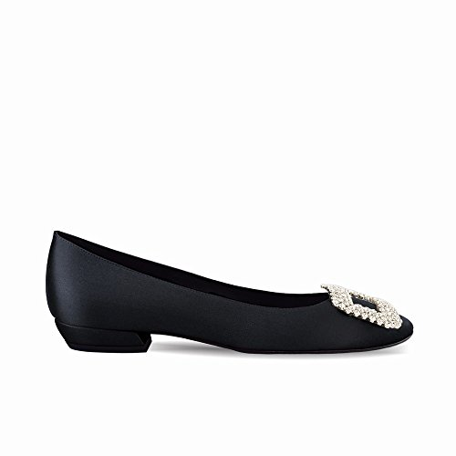 heels Redondas de Zapatillas Primavera Las Planos y Verano de Zapatos Trabajan de High de Hebilla con UN Poco Taladro Ballet 36 d4vEWPwx