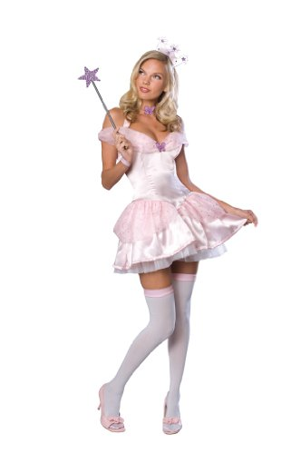 Glinda Halloween Costume Wicked (Secret Wishes  Women's Wizard of Oz Glinda Costume, Pink, Small)