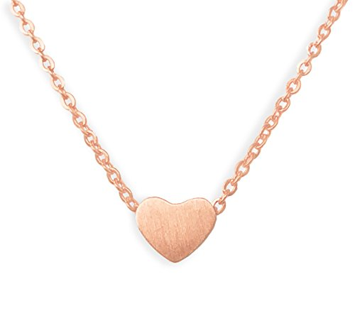 Altitude Boutique Simple Heart Necklace for Her, Pendant Love Choker or Long Style Necklace for Women (Rose Gold) -