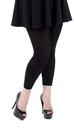 cb06550a33f Plus Size Black 80 Denier Footless Tights Curvy For Ladies Size - 16 ...