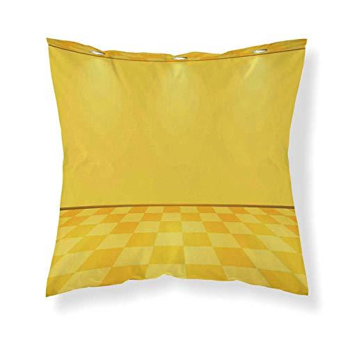YOLIYANA Yellow Decor Comfortable Throw Pillow,Shades of Lemon Yellow in Every Tone Chess Like Room with Lighting Image for Home - Lighting 283 Bath