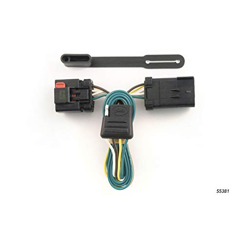 (CURT 55381 Vehicle-Side Custom 4-Pin Trailer Wiring Harness for Select Chrysler, Dodge, Jeep Vehicles)