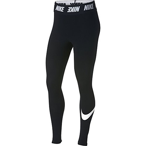 NIKE Women's Sportswear Club Leggings, Black/White, Small