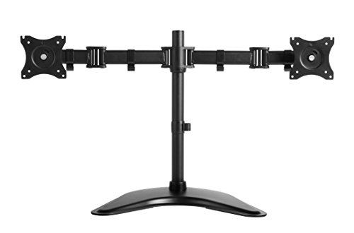 "Rosewill Dual Monitor Desk Stand, Foldable arm, Support Two Screens 13"" ~ 27"" LCD/LED Display, VESA 75/100, Tilt ±15°, Swivel 30°, Rotate 360°, Max. Load: 17.64lb. (Monitor Stand Supports)"